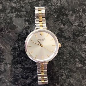 Kate Spade two- tone 34 mm watch